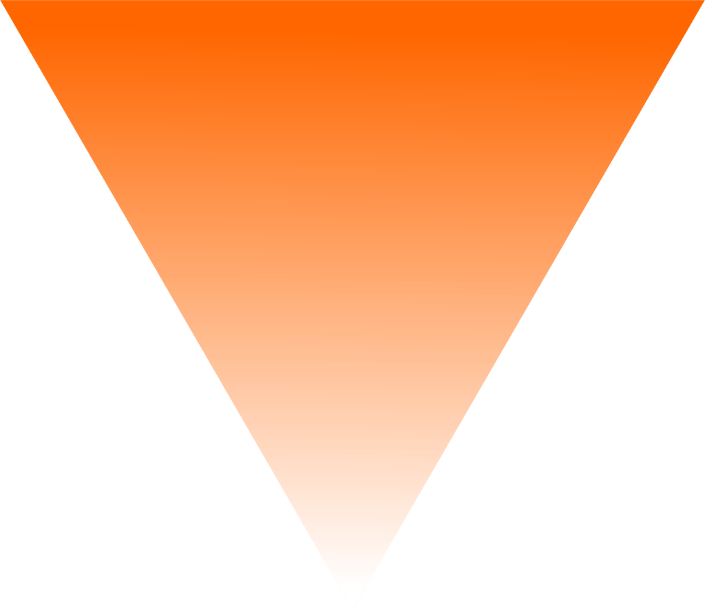 Orange inverted triangle