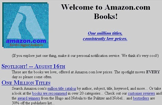 Amazon's first page